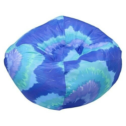 Small Tye Dye Bean Bag Chair   Blue   Ace Bayou