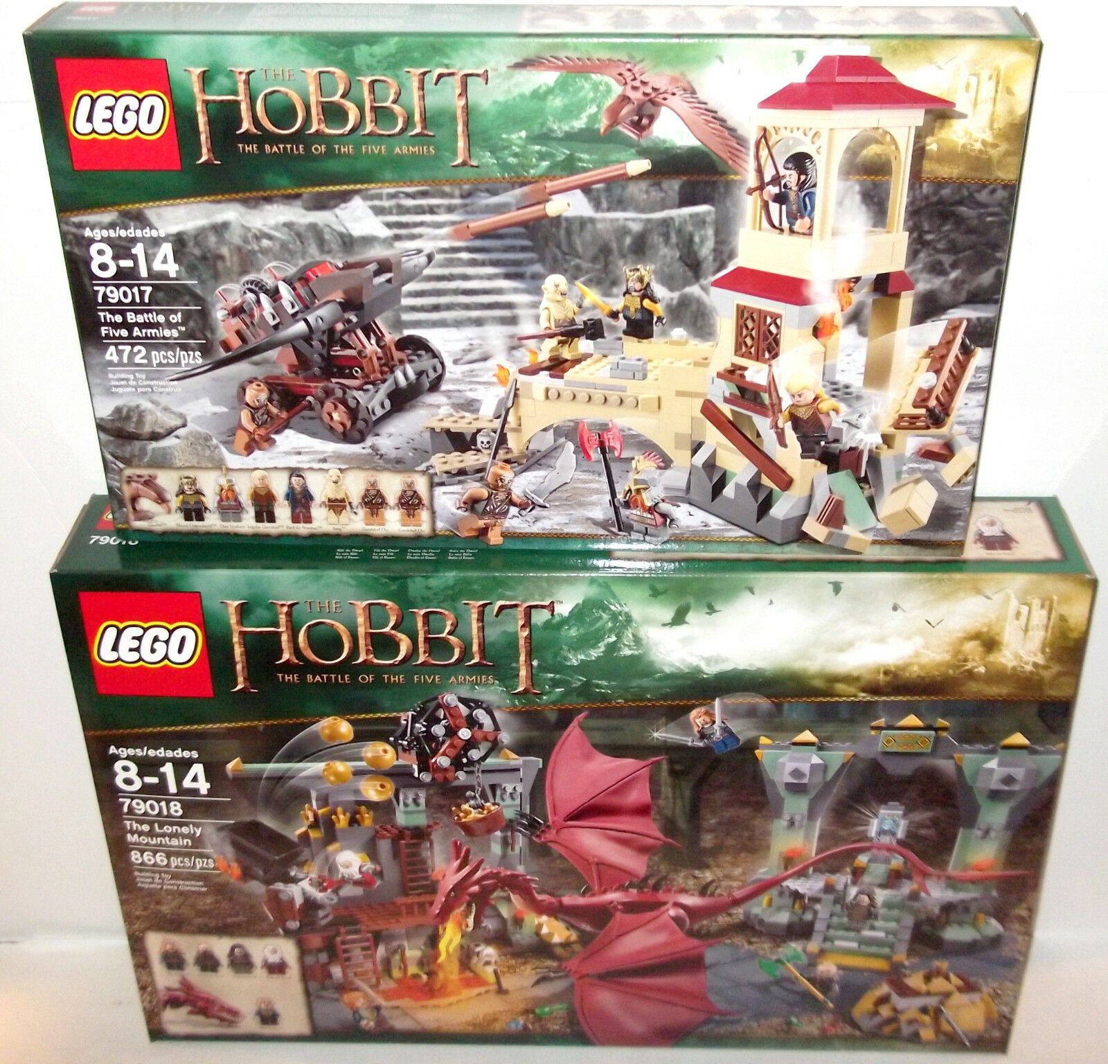 LEGO HOBBIT LOT ✰  79017  79018 ✰ Lonely Mountain Five Armies RETIrosso MIB Sealed