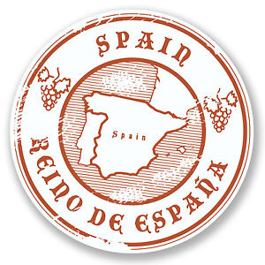 2 x Spain Vinyl Sticker Laptop Travel Luggage #4508