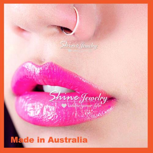 6-8-10mm Sterling Silver Small Hoop Earring Sleeper Ear Nose Lip Piercing Ring