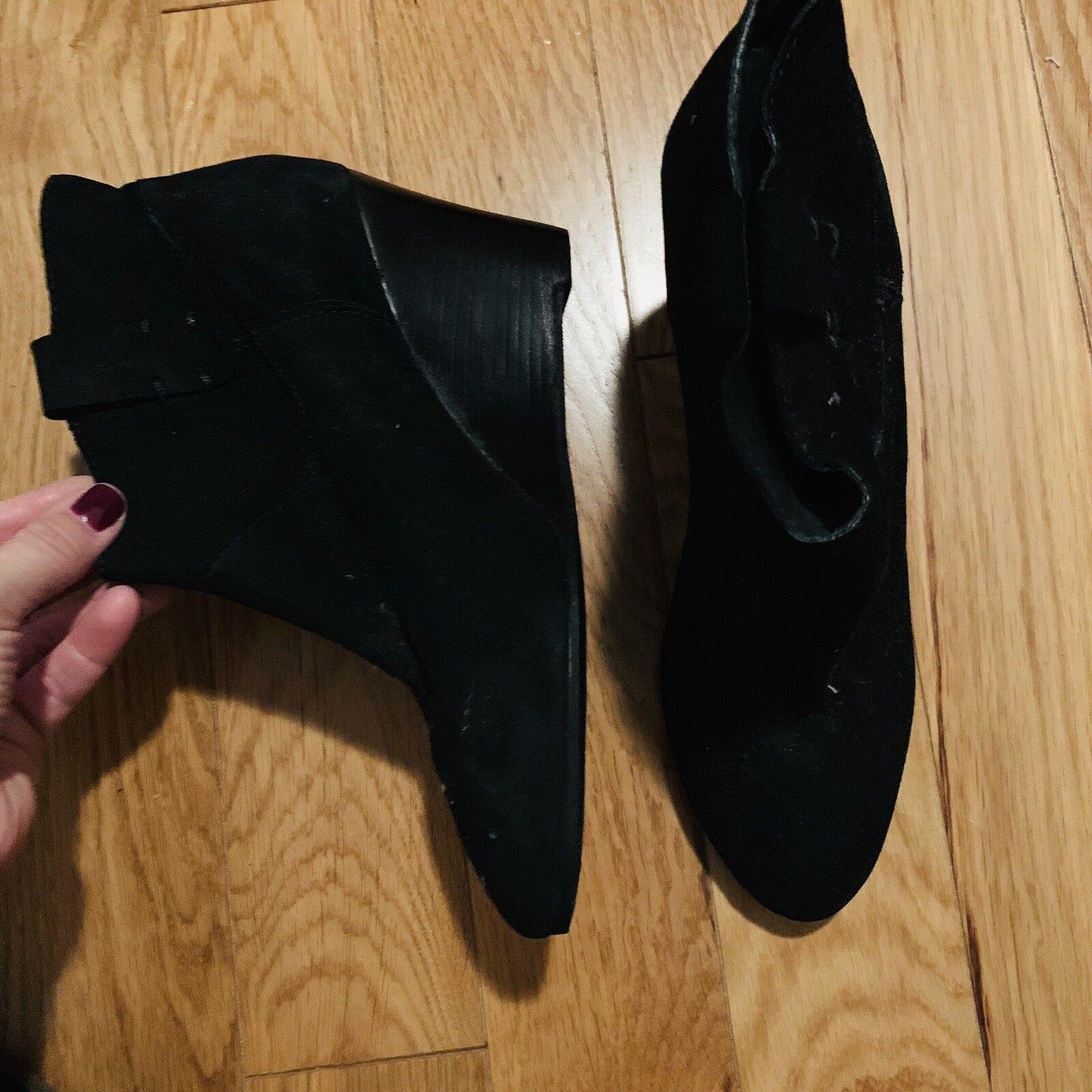 Rebecca Minkoff Gamuza Botines Negro Talla Talla Talla 9.5 Nunca Usado 0c0aea