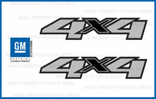 F set of 2 2011 Chevy Silverado 4x4 decals side 1500 2500 HD stickers truck