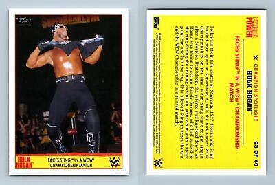 Sting #23 WWE Road To Wrestlemania 2015 Topps Tribute Card Hulk Hogan