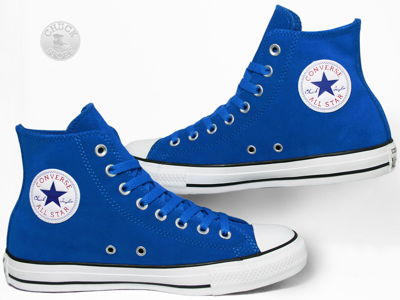 Converse Chuck Taylor All Star Chucks Hi Suede Larkspur / Blau 144673C Sneakers