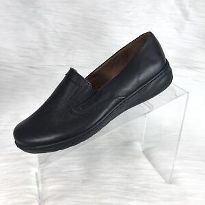 David-Tate-Women-Loafers-Black-Leather-Size-7-M
