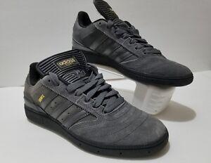 save off fa356 613ce Image is loading Adidas-BUSENITZ-Dark-Solid-Grey-Black-Skate-Sneaker-