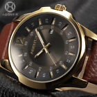 Luxury AgentX Men's Analog Sport Stainless Steel Quartz Date Leather Wrist Watch