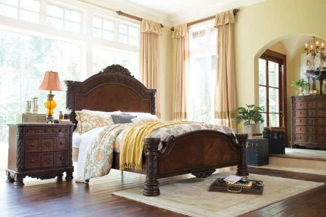 Ashley Furniture North S Queen Panel 6 Piece Bed Set B553 157