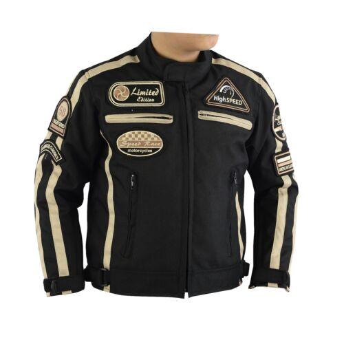 Children/'s Jacket Motorcycle Racing Windproof patch biker rocker casual