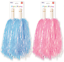 Blue-Pink-Party-Pom-Poms-Baton-Fancy-Dress-Cheerleader-Pompom-Decoration thumbnail 1