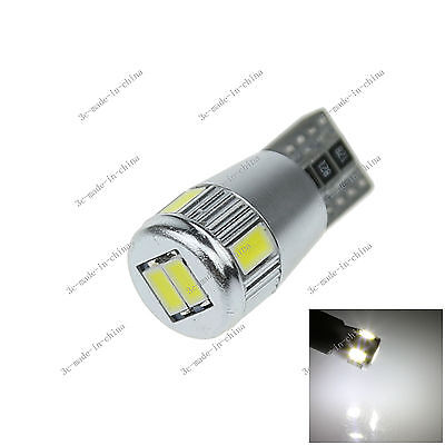 1X Car 6 LED 5630 SMD Canbus Error Free T10 W5W Wedge Side Light Bulb Lamp A089