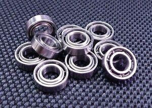5x10x3 mm Metal Open Ball Bearing High Precision Bearing MR105 10pcs
