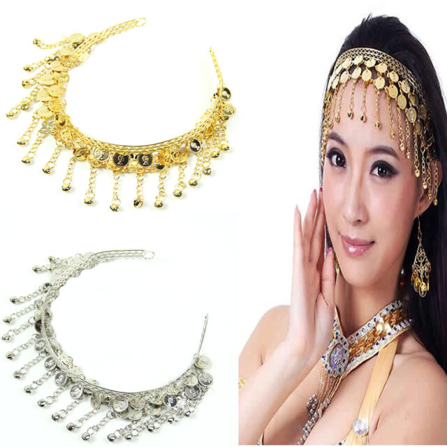 Stylish Sexy Costume Dancing Belly Dance Coin Sequins Hair Band Headbands New
