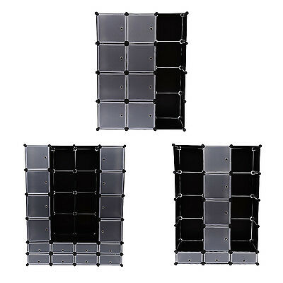 Interlocking Cube Shelf Storage Units Storage Boxes Cloth Wardrobe Orgnizer Rack