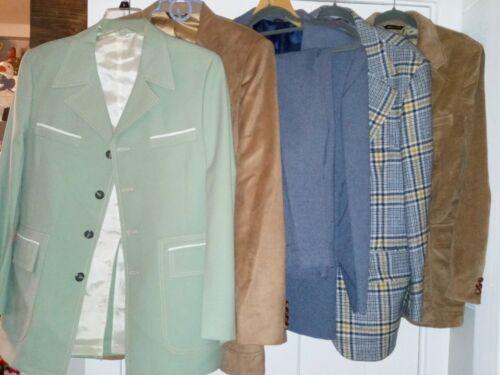 6 Vintage Men's Polyester 1970s 80s  Sport Coat Su