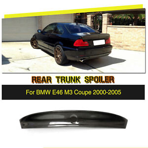 707367876c8 Image is loading Carbon-Fiber-RearTrunk-Boot-Spoiler-Bigger-Wing-Factory-