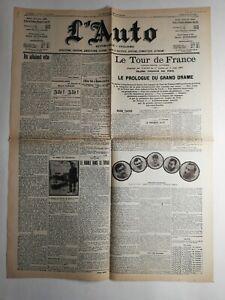 N274-La-Une-Du-Journal-l-039-auto-8-juillet-1907-le-tour-de-France