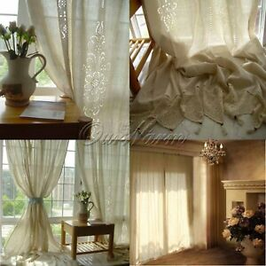 Tende In Pizzo Per Camera Da Letto.Insulated Cotton Linen Blackout Window Curtains Lace Drape Curtain