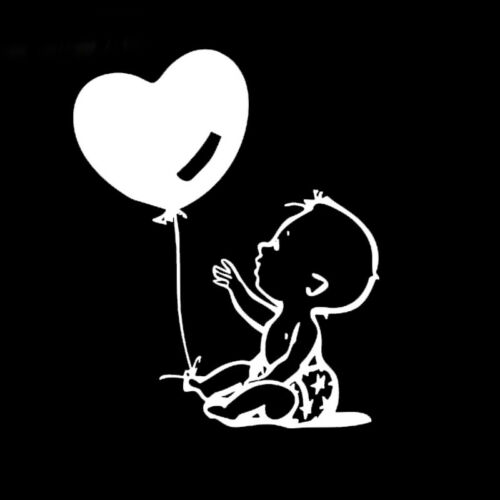 Cute BABY ON BOARD BABY IN CAR Car Stickers Heart Balloon Window Vinyl Decal