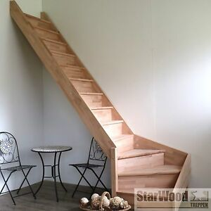 raumspartreppe rhodos 1 4 gewendelt links mit setzstufen holztreppe ebay. Black Bedroom Furniture Sets. Home Design Ideas