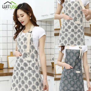 Apron-For-Women-Lady-Adjustable-Bib-Kitchen-Cooking-Aprons-Dress-With-Pockets-2