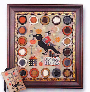 The-Witch-The-Crow-amp-The-Pumpkin-folk-art-style-cross-stitch-chart