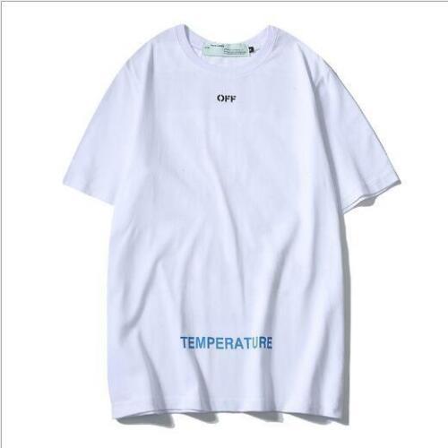 Offwhite tide brand fashion T-shirt new wild basic stripe printing short sleeves