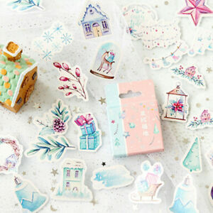 46pcs-box-Northern-Polar-Region-Diary-Stickers-Paper-Lables-DIY-Gifts-DecorEs