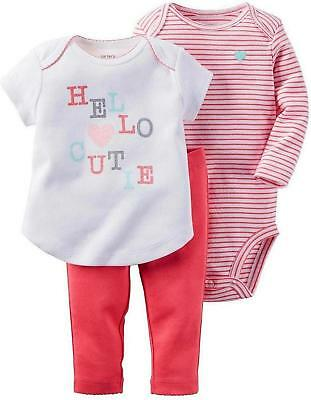 "NWT Baby Girl Carter/'s /""Hello Cutie/"" Watermelon Bodysuit /& Tutu Leggings Set 18M"