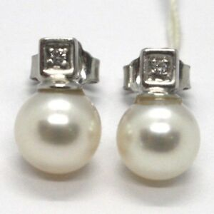 WHITE-GOLD-EARRINGS-750-18K-WHITE-PEARLS-8-MM-CUBES-AND-DIAMONDS