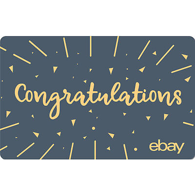 eBay eGift Card - Congratulations Sparks $25 $50 $100 or $200 - Via Email
