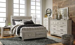 Details about Ashley Furniture Bellaby 7 Piece Queen Storage Bedroom Set