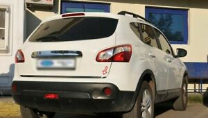 S//Steel Rear tailgate Trunk Chrome Strip Trim molding For Nissan Qashqai 2014+