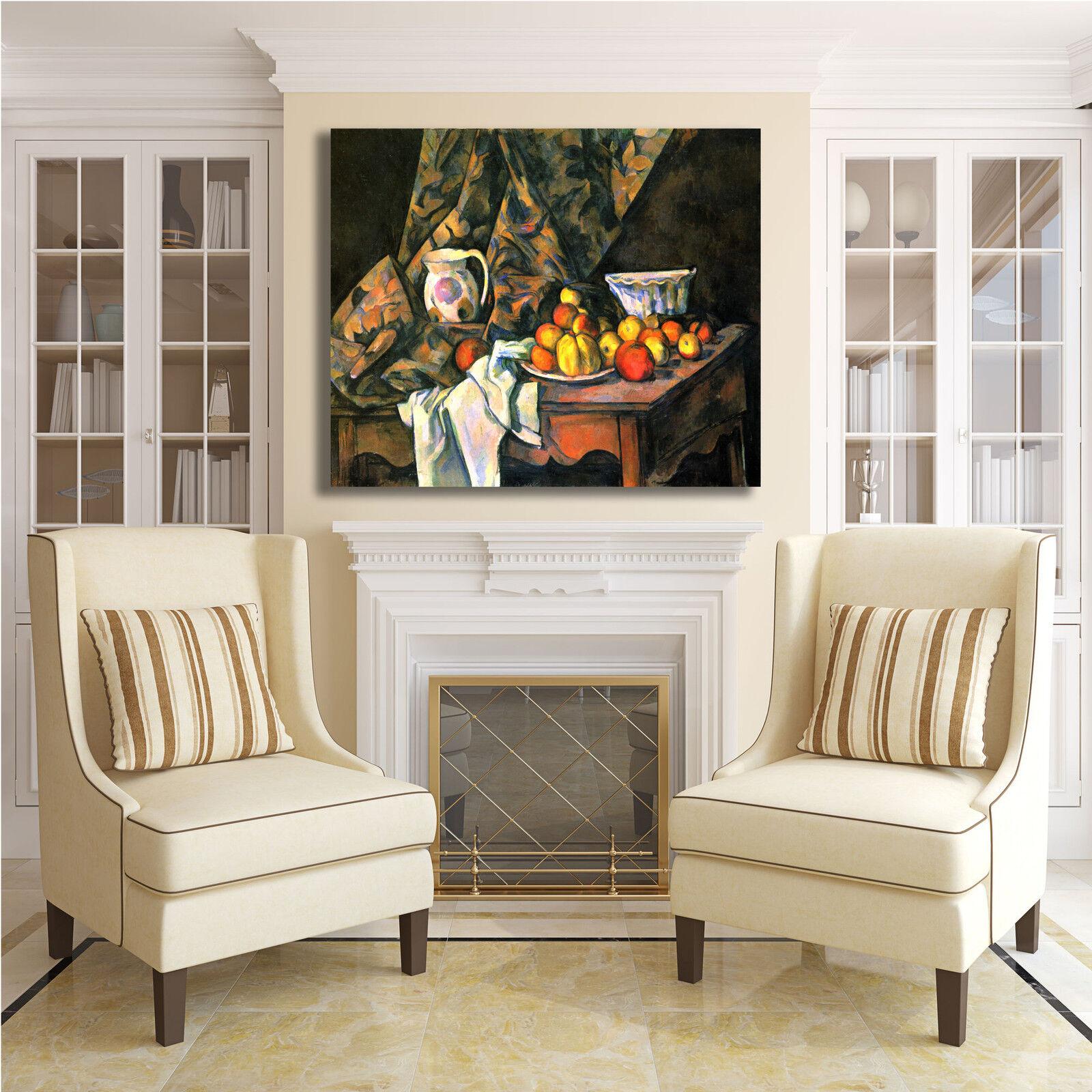 Cezanne natura morta 56 design quadro stampa tela dipinto telaio con telaio dipinto arRouge o casa 560291