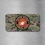 USMC Vehicle License Plate Auto Car United States Marine Corps New USA