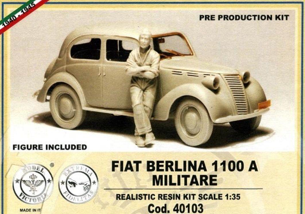 MODEL VICTORIA FIAT BERLINA 1100 A MILITARE Scala 1 35 Cod.40103