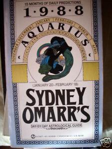 1988 Sydney Omarr s Aquarius Day by day astrological - Memmingen, Deutschland - 1988 Sydney Omarr s Aquarius Day by day astrological - Memmingen, Deutschland