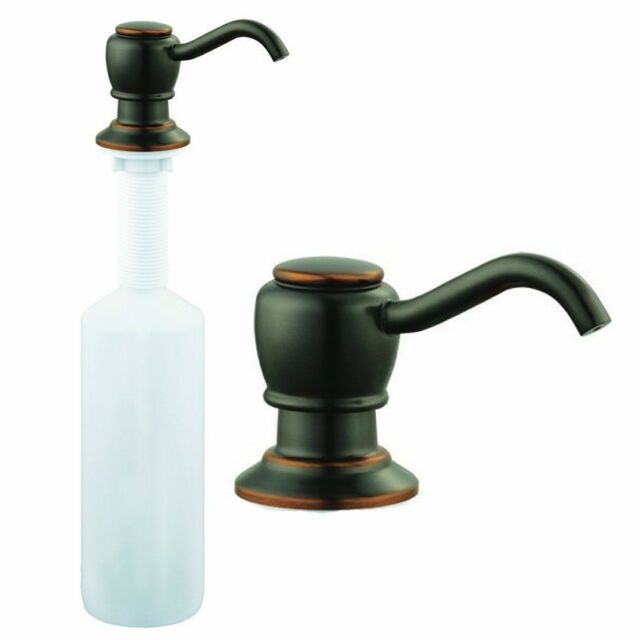Oil Rubbed Bronze Kitchen Sink Faucet Liquid Soap Pump Lotion