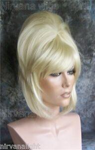 High Cone Beehive 60 S Patsy Style Womens Mens Drag Blonde White Auburn Wig Ebay