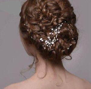 Neu-Braut-Haargesteck-Haarschmuck-Hochzeit-Kommunion-Kopfschmuck-Kit-Heiss