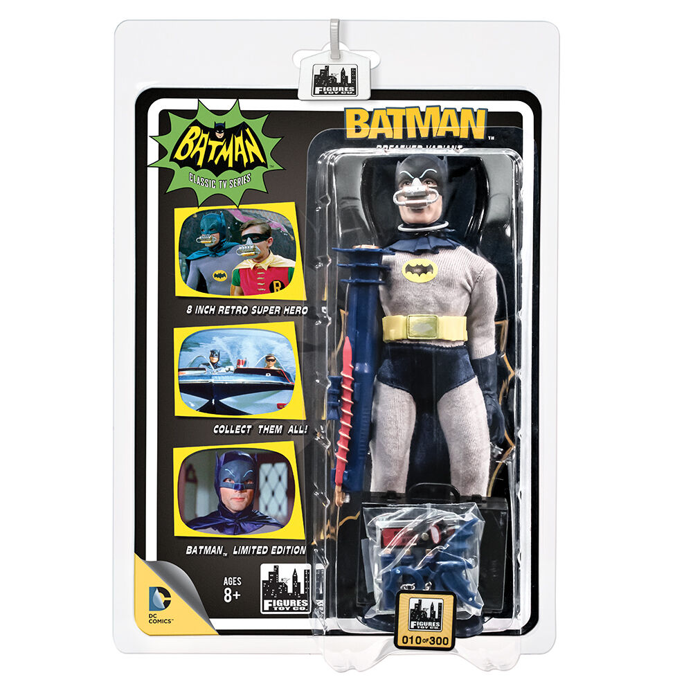 Batman 66 Classic TV Show Retro Style Figures  Deluxe Batman Breather Variant