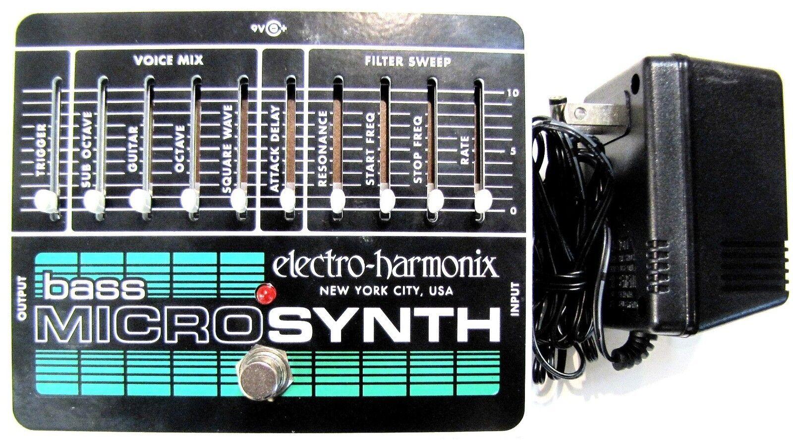 Utiliza Electro-Harmonix EHX bajo    Sintetizador Micro Microsynth Analog  mas preferencial