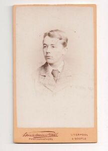 Vintage-CDV-Unknown-Young-Man-Brown-Barnes-amp-Bell-Photo-Liverpool