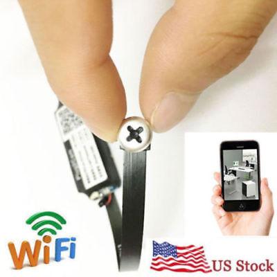 Wireless Spy Wifi network Mini 1080P HD Tiny DIY screw Nanny hidden micro Camera