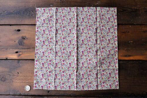 Handmade Unisex Pocket Square Floral100/% Cotton handkerchief Wedding Gift