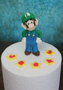 Amazing Personalised Super Mario Bros Themed Luigi Edible Handmade Funny Birthday Cards Online Unhofree Goldxyz
