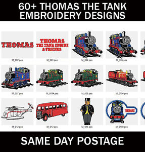 60 Thomas The Tank Engine Machine Embroidery Pes Design Images On