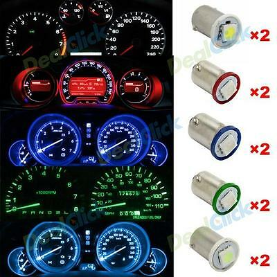 10x BA9S 1815 1895 5050 1 SMD Car Instrument Gauge Dashboard LED Lamp Bulbs