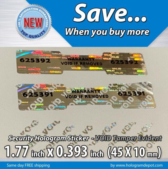 100 to 1000 Custom Print MGR Dogbone Hologram Label Stickers