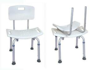 Details About 250 Lb Elderly Bathtub Bath Tub Shower Seat Chair Bench Stool With Back Support